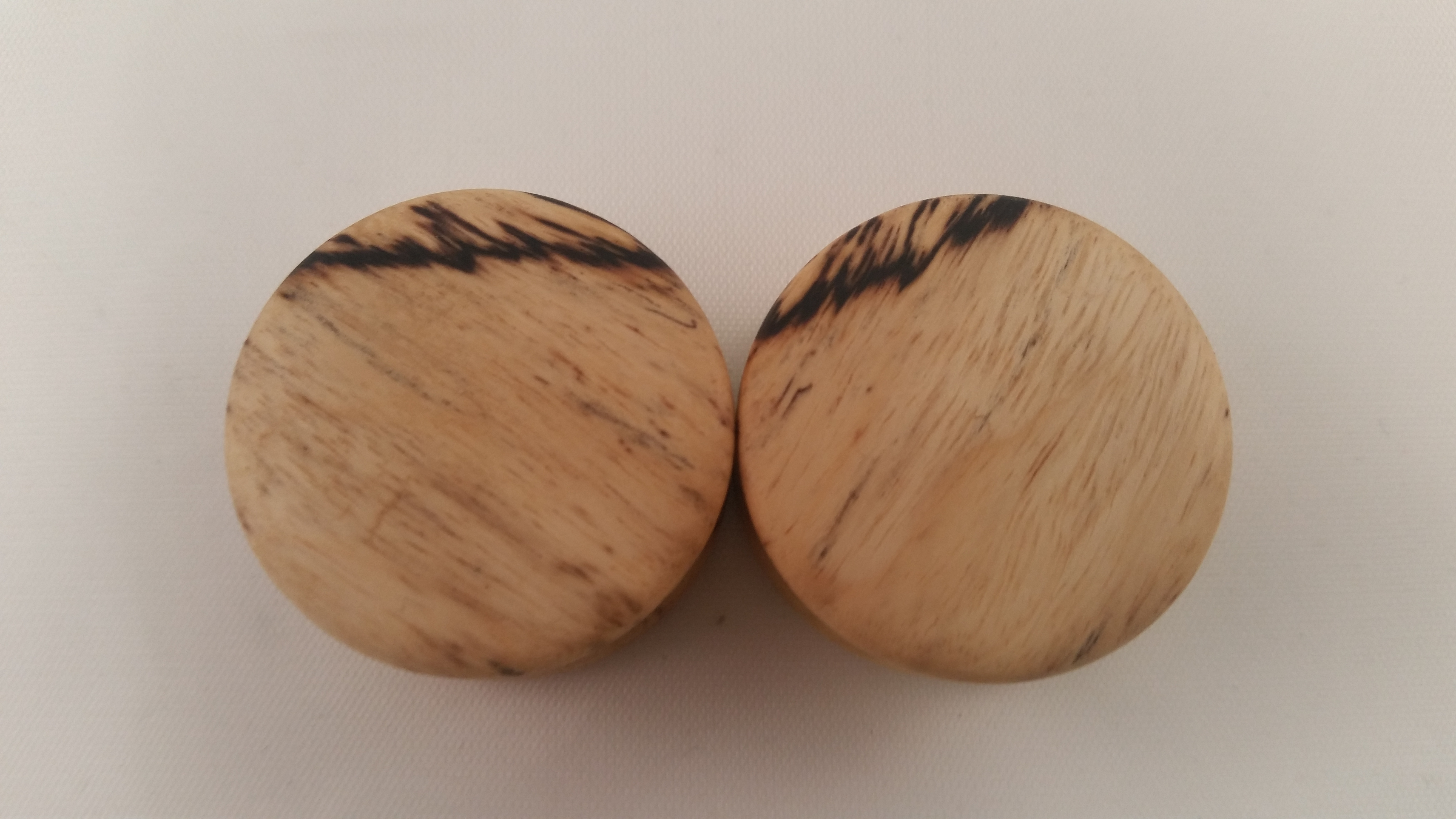 Spalted tamarind wood plugs 1 wingnut tattoo and for Tattoo shops in st cloud mn