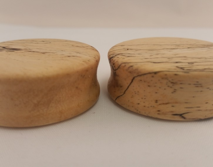 Spalted tamarind wood plugs 1 1 2 wingnut tattoo and for Tattoo shops in st cloud mn
