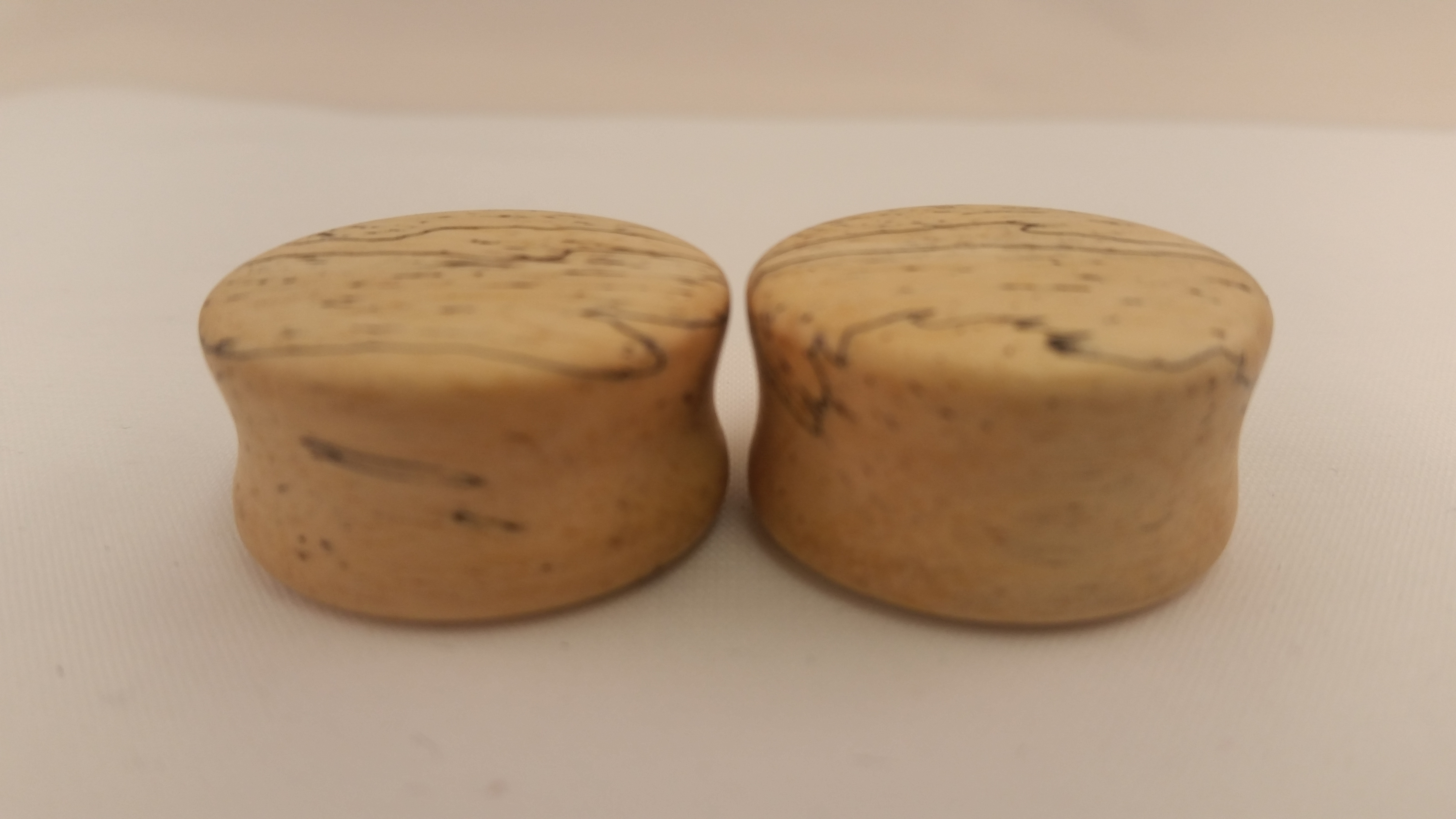 Spalted tamarind wood plugs 7 8 wingnut tattoo and for Tattoo shops in st cloud mn